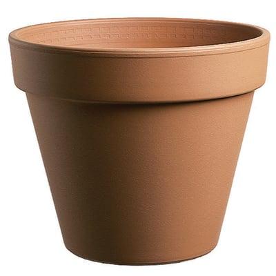 Vaso Comune in terracotta colore cotto H 17.1 cm, Ø 19 cm