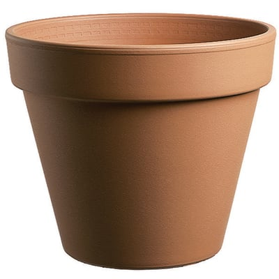 Vaso Comune in terracotta colore cotto H 27 cm, Ø 31 cm