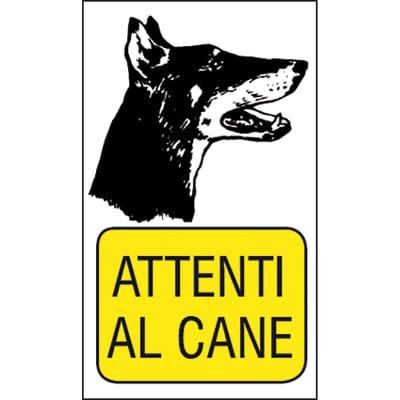 Cartello segnaletico Attenti al cane pvc 20 x 30 cm