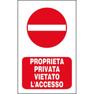 Cartello segnaletico Strada privata vinile 20 x 30 cm