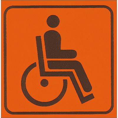 Cartello segnaletico Handicap vinile 17 x 17 cm