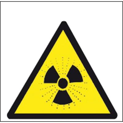 Cartello segnaletico Radioattività vinile 17 x 17 cm