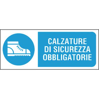 Cartello segnaletico Scarpe sicurezza pvc 31 x 14 cm