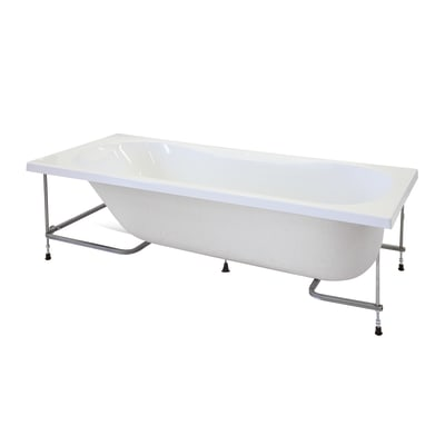 Vasca e pannello piatto Egeria 150 x 70 cm bianco 030