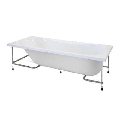Vasca e pannello piatto Egeria 170 x 80 cm bianco 030