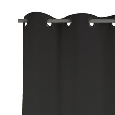 Tenda Attila nero occhielli 140x280 cm