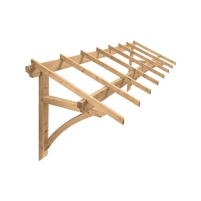 Tettoia Firenze in legno L 325 x P 91 cm struttura Legno