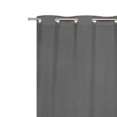 Tenda Oscurante Stop Cold grigio occhielli 140x280 cm