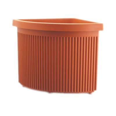 Vaso Ionio in plastica colore cotto H 53 cm, L 50 x P 50 cm