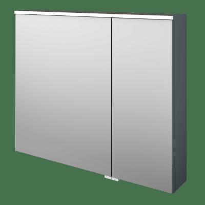 Specchio contenitore con illuminazione Neo L 90 x P 17 x H 75 cm argento opaco Sensea