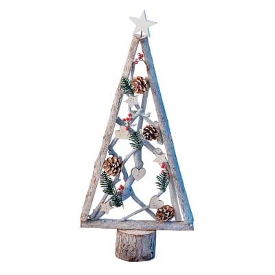 Albero di Natale in legno H 72.5 cm, L 35 cm