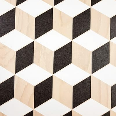Carta da parati Cubi nero