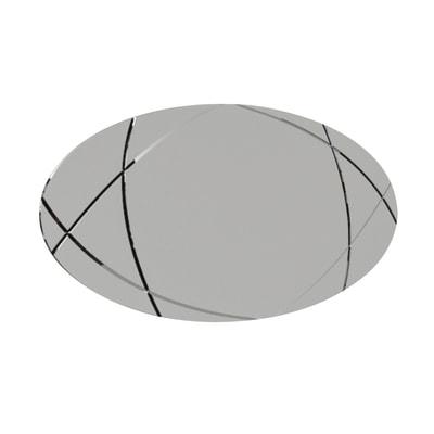Specchio non luminoso bagno ovale Armonia  L 70 x H 120 cm