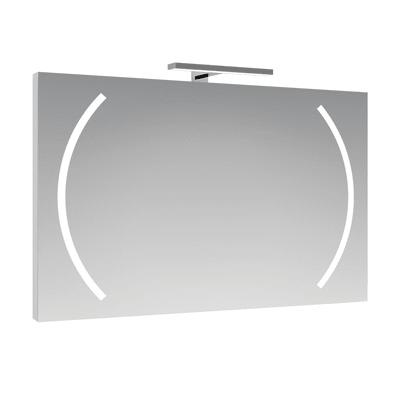 Specchio con illuminazione integrata completo di faretto bagno rettangolare Boomerang L 100 x H 70 cm SENSEA