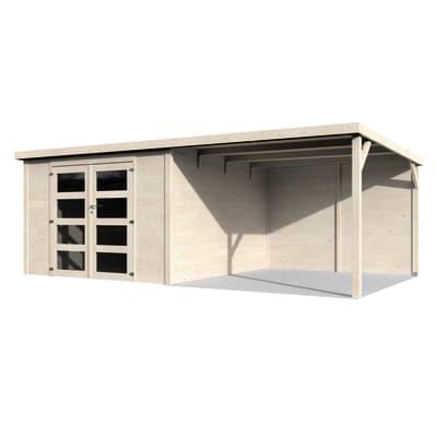Casetta da giardino in legno Eva,  superficie interna 8.65 m² e spessore parete 28 mm