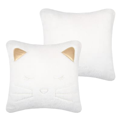 Cuscino Gribouille bianco 40x40 cm