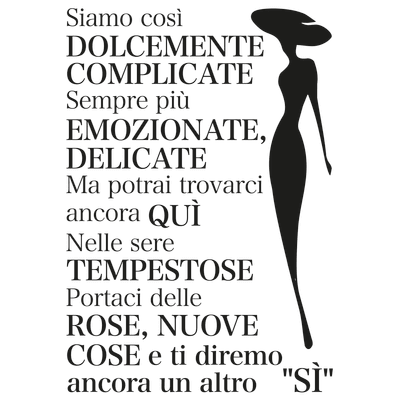 Sticker Donne 47x65 cm