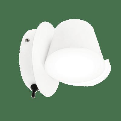 Applique moderno Linu bianco, in alluminio, 12.6x12 cm, INSPIRE