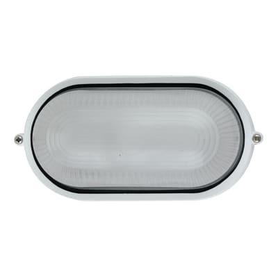 Plafoniera IBIZAS-BCO in alluminio + vetro, bianco, E27 MAX42W IP44