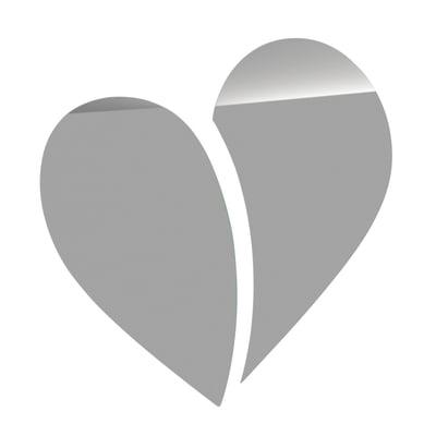 Specchio non luminoso bagno Bis heart