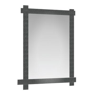 Specchio non luminoso bagno rettangolare Industrial L 60 x H 80 cm