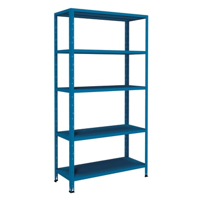 Scaffale in metallo in kit Crosser L 100 x P 40 x H 188 cm blu