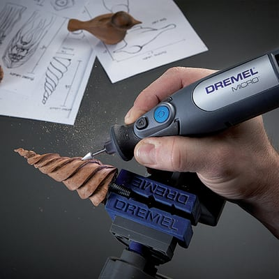 Mini utensile rotativo a batteria DREMEL MICRO , 7,2 V , 1.3 Ah 28000 giri/min