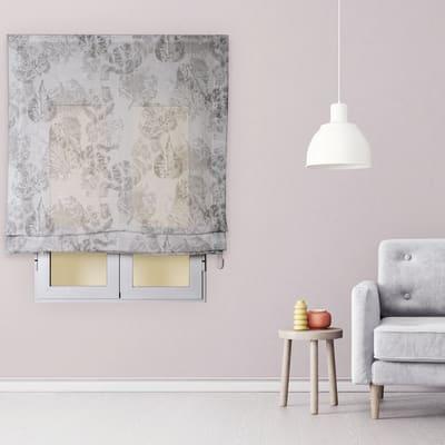 Tendina pieghevole in tessuto INSPIRE Fogliabella grigio / argento 120x175 cm