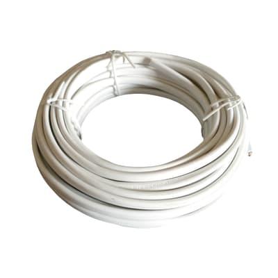 Cavo elettrico h03vvh2-f LEXMAN 2 fili x 0,75 mm² Matassa 5 m bianco