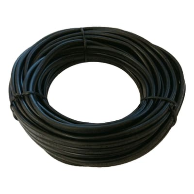 Cavo elettrico h03vvh2-f LEXMAN 2 fili x 0,75 mm² Matassa 5 m nero