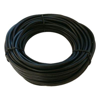 Cavo elettrico h03vvh2-f LEXMAN 2 fili x 0,75 mm² Matassa 20 m nero