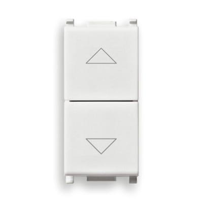 Pulsante doppio VIMAR Plana 10 A bianco