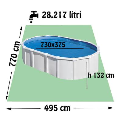 Piscina fuori terra autoportante GRE KITPROV7388PO, 495 cm x 7.7 m