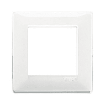 Placca VIMAR Plana 2 moduli reflex neve