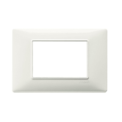 Placca VIMAR Plana 3 moduli argento opaco