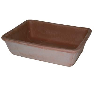 Fioriera Bonsai in terracotta colore cotto H 10 cm, L 20 x P 10 cm