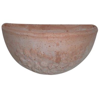 Vaso Frutta in terracotta colore impruneta H 15 cm, L 27 x P 14.5 cm
