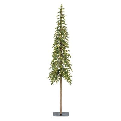 Albero di natale artificiale Alpine Tree illuminato verde H 210 cm