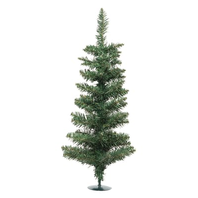 Albero di natale artificiale mini Slim H 75 cm