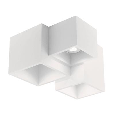 Plafoniera Foster bianco, in gesso, GU10 3xMAX35W IP20