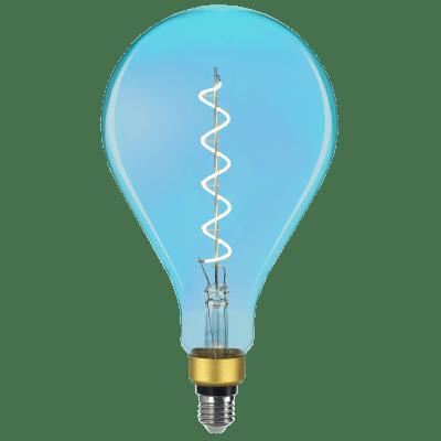 Lampadina decorativa LED filamento Dream, E27, Pera,  diffusore Blu, col.luce Bianco, Luce calda, 5W=250LM (equiv 16 W), 330° , LEXMAN