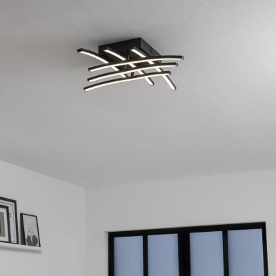 Plafoniera design Beryl LED integrato nero, in alluminio, 50 cm, 6  luci INSPIRE