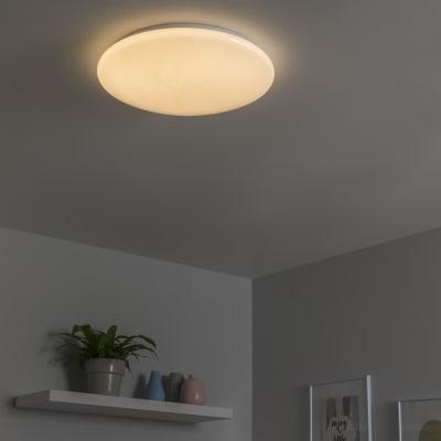 Plafoniera moderno Modica LED integrato bianco D. 40 cm 8.9 cm, INSPIRE