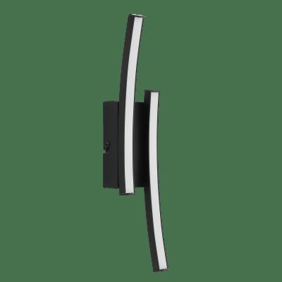 Applique Beryl nero, in alluminio, 6.5x6 cm, LED integrato 20W 300LM IP20 INSPIRE