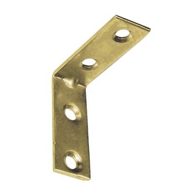 Piastra angolare standers in acciaio zincato L 15 x Sp 1.8 x H 30 mm  4 pezzi