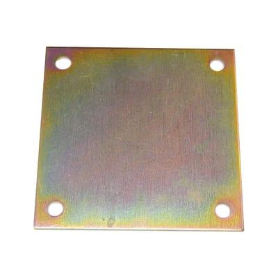 Piastra angolare standers in acciaio zincato L 150 x Sp 4 x H 150 mm