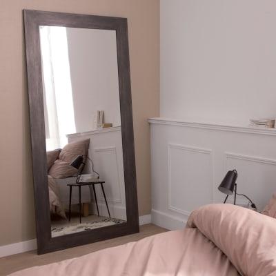 Specchio a parete rettangolare Loft grafite 87x187 cm INSPIRE