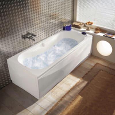Vasca idromassaggio rettangolare Egeria bianco 55 x 170 cm 6 bocchette
