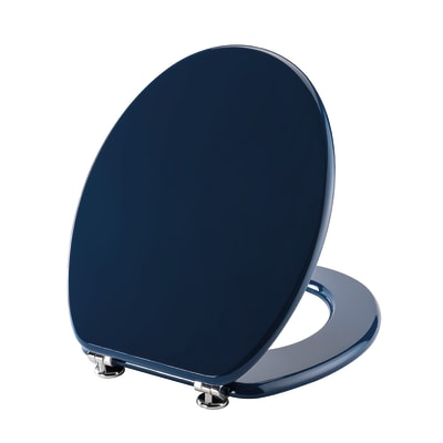Copriwater ovale blu