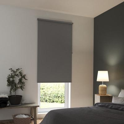 Tenda a rullo INSPIRE Tokyo oscurante grigio scuro 105x250 cm